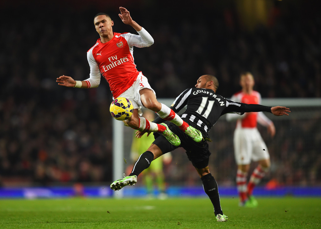 Arsenal Vs Newcastle: Kieran Gibbs In Arsenal V Newcastle United