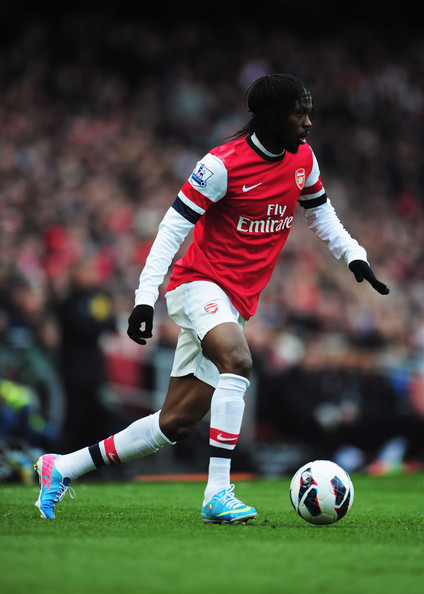 Gervinho of Arsenal in action during the Barclays Premier League match between Arsenal and Reading at Emirates Stadium on March 30, 2013 in London, England.