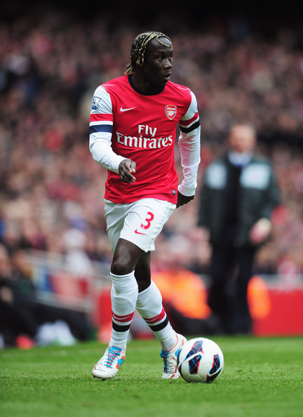 Bacary Sagna of Arsenal in action during the Barclays Premier League match between Arsenal and Reading at Emirates Stadium on March 30, 2013 in London, England.