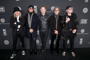 (L-R) Robin Zander, Robin Taylor Zander Jr., Daxx Nielsen, Tom Petersson, and Rick Nielsen of music group Cheap Trick attend The Art Of Elysium Presents WE ARE HEAR'S HEAVEN 2020 at Hollywood Palladium on January 04, 2020 in Los Angeles, California.