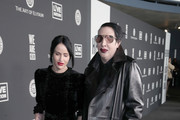 (L-R) Lindsay Usich and Marilyn Manson attend The Art Of Elysium's 13th Annual Celebration - Heaven at Hollywood Palladium on January 04, 2020 in Los Angeles, California.