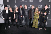 (L-R) Robin Zander, Pam Stein, Robin-Sailor Zander, Robin Taylor Zander Jr., Daxx Nielsen, Tom Petersson, Lilah Petersson, and Rick Nielsen attend The Art Of Elysium Presents WE ARE HEAR'S HEAVEN 2020 at Hollywood Palladium on January 04, 2020 in Los Angeles, California.