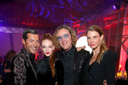 (L-R) Evangelo Bousis, Larsen Thompson, Peter Dundas, and Angela Lindvall attend Michael Muller's HEAVEN, presented by The Art of Elysium, on January 5, 2019 in Los Angeles, California.