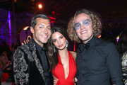 (L-R) Evangelo Bousis, Emily Ratajkowski, and Peter Dundas attend Michael Muller's HEAVEN, presented by The Art of Elysium, on January 5, 2019 in Los Angeles, California.