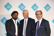 Author Ben Okri, Chairman of the Art Fund, Chris Smith and Director of The Art Fund Stephen Deuchar attends the announcement of the winner of the UK's largest arts prize - the £100,000 Art Fund Prize for Museum of the Year, presented by Ben Okri at Tate Modern on July 1, 2015 in London, England.