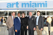 Joe Namath, Franklin Sirmans, Pamela Cohen, Nick Korniloff and Commissioner Ken Russell attend the Art Miami CONTEXT 2017 at Art Miami Pavilion on December 5, 2017 in Miami, Florida.