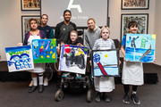 (L-R) Valerie Afaese, Aija Tomljanovic, Fernando Verdasco, Angus Lloyd, Amanda Anisimova, Thomas Kendall and Nicholas Hatem attend a life drawing class hosted by Art Series Hotels to support The Royal Children's Hospital Foundation at The Larwill on January 16, 2020 in Melbourne, Australia.