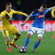 Arthur SSC Napoli v FC Barcelona - UEFA Champions League Round of 16: First Leg