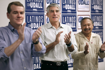 Arturo Rodriguez Sen. Mark Udall Campaigns For Re-Election In Denver Area