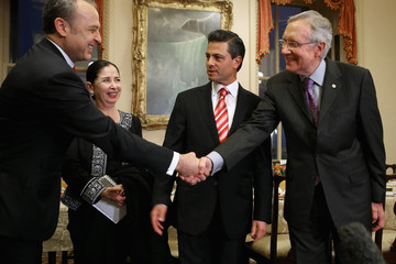 Arturo Sarukhan Mexican President-Elect Enrique Pena Nieto Meets With US Senate Leaders