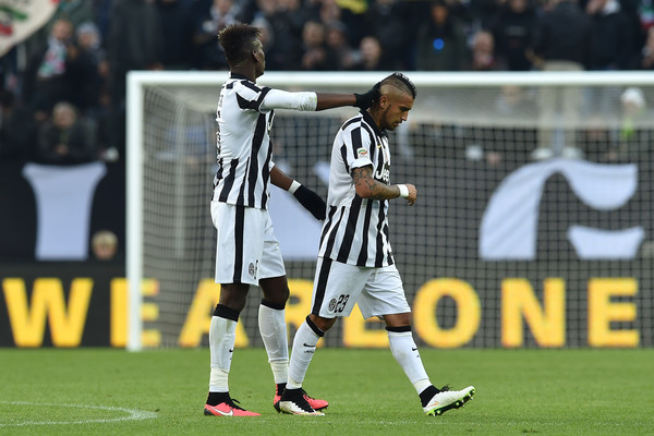 Image result for Arturo Vidal with Pogba