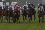 Paul Hanagan riding Stamp Hill (4L, white cap) win The Gigaset International Stakes at Ascot racecourse on July 29, 2017 in Ascot, England.