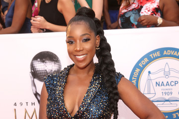 Ashley Blaine Featherson 49th NAACP Image Awards - Red Carpet