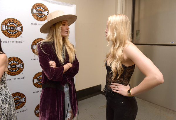 CMT's Next Women Of Country At Country Music Hall of Fame And Museum's CMA Theater [clothing,blond,hat,fashion,headgear,cowboy hat,fashion accessory,dress,footwear,street fashion,ruby stewart,ashley campbell,cma theater,nashville,tennessee,cmt,next women of country at country music hall of fame and museum]