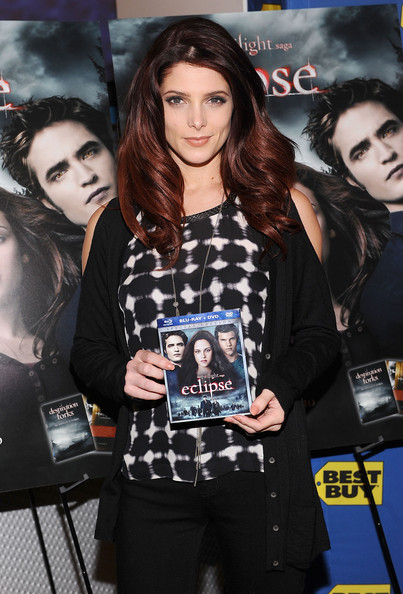 "Ashley Greene Actress Ashley Greene signs copies of ""The Twilight Saga: Eclipse"" at Best Buy on December 17, 2010 in New York City."