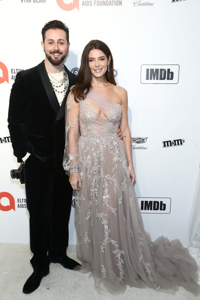 IMDb LIVE Presented By M&M'S At The Elton John AIDS Foundation Academy Awards Viewing Party [hair,dress,shoulder,clothing,carpet,gown,hairstyle,red carpet,fashion,skin,elton john aids foundation academy awards viewing party,ashley greene,paul khoury,imdb,red carpet,los angeles,california,m ms,paul khoury,ashley greene,stock photography,photograph,elton john aids foundation,getty images,celebrity,image,tv personality]