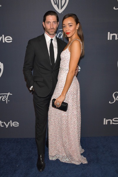 The 2020 InStyle And Warner Bros. 77th Annual Golden Globe Awards Post-Party - Red Carpet [suit,formal wear,dress,hairstyle,tuxedo,fashion,premiere,carpet,event,shoulder,iddo goldberg,ashley madekwe,l-r,the beverly hilton hotel,beverly hills,california,instyle,red carpet,warner bros. 77th annual golden globe awards,warner bros. 77th annual golden globe awards post-party,salma hayek,iddo goldberg,celebrity,los angeles county museum of art,instyle,golden globe awards,red carpet,party,photograph]