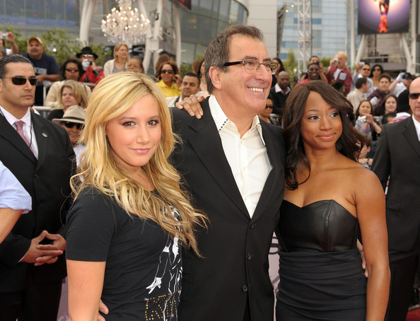"Premiere Of Sony Pictures' ""This Is It"" - Arrivals [this is it,event,premiere,hairstyle,shoulder,fashion,dress,flooring,carpet,blond,red carpet,ashley tisdale,monique coleman,kenny ortega,nokia theatre downtown la,los angeles,california,sony pictures,premiere,premiere]"