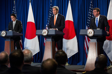 Ashton Carter Kerry, Carter Hold Security And Defense Meetings With Japanese Counterparts