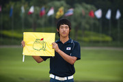 Chang-Won Han of South Korea poses after winning the Asian Amateur Championship at the Mission Hills Golf Club on November 1, 2009 in Shenzhen, Guangdong, China. Chang-Won Han wins a place at the 2010 Masters Tournament and International Final Qualifying for the 150th Open Championship at St Andrews
