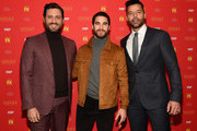 """Edgar Ramirez, Ricky Martin and Darren Criss attend """"The Assassination Of Gianni Versace: American Crime Story"""" New York Screening at Metrograph on December 11, 2017 in New York City."""