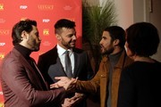 """Edgar Ramirez, Ricky Martin and Darren Criss attend the premiere of """"The Assassination of Gianni Versace: America Crime Story"""" at the Metrograph on December 11, 2017, in New York. / AFP PHOTO / ANGELA WEISS"""