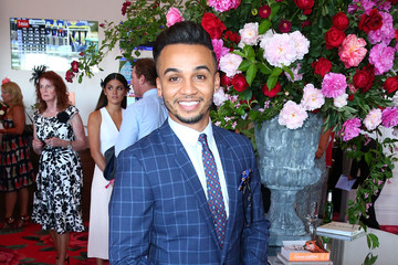 Aston Merrygold Celebrities Attend Oaks Day