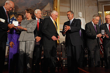 Eddie Bernice Johnson Astronauts Aldrin, Glenn, Armstrong, And Collins Awarded Congressional Gold Medal