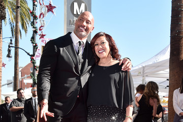 Ata Johnson Dwayne Johnson Honored With Star on the Hollywood Walk of Fame