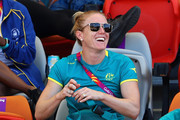 Sally Pearson of Australia watches from the stands during the Athletics on day five of the Gold Coast 2018 Commonwealth Games at Carrara Stadium on April 9, 2018 on the Gold Coast, Australia.