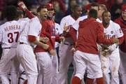 Andres Blanco and Ben Revere Photos Photo