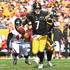 Ben Roethlisberger Photos - Ben Roethlisberger #7 of the Pittsburgh Steelers scrambles out of the pocket in the first half during the game against the Atlanta Falcons at Heinz Field on October 7, 2018 in Pittsburgh, Pennsylvania. - Atlanta Falcons vs. Pittsburgh Steelers