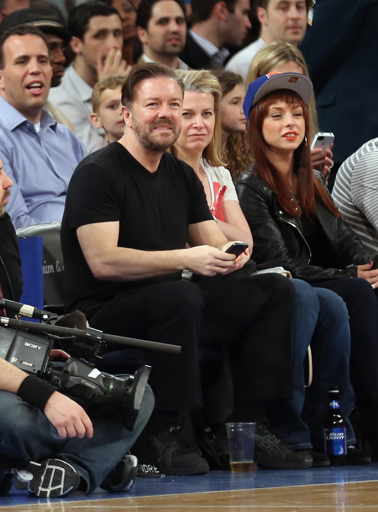 Ricky Gervais Photos Photos Atlanta Hawks V New York Knicks Zimbio