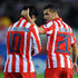 Simao Photos - Sergio Aguero of Atletico Madrid celebrates with Simao after he scores the first goal of the game during Champions League Group D match between Atletico Madrid and Chelsea at the Vicente Calderon Stadium on November 3, 2009 in Madrid, Spain. - Atletico Madrid v Chelsea - UEFA Champions League