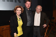 """Actress Kat Kramer, director Michael von Hohenberg and actor Ed Asner attend the Atomic Age Cinema Fest Premiere of """"The Man Who Saved The World"""" at Raleigh Studios on April 27, 2016 in Los Angeles, California."""