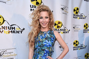 "Model/actress Dustin Quick attends the Atomic Age Cinema Fest Premiere of ""The Man Who Saved The World"" at Raleigh Studios on April 27, 2016 in Los Angeles, California."
