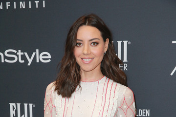 Aubrey Plaza Hollywood Foreign Press Association and InStyle Celebrate the 75th Anniversary of the Golden Globe Awards - Arrivals