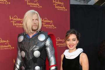 Aubrey Plaza Marvel Wax Figures Unveiled in Hollywood
