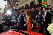 Actor Robert Downey Jr. (L) and his wife Susan Downey attend the U.S. Premiere of Marvel's Iron Man 3 hosted by Audi at the El Capitan Theatre on April 24, 2013 in Hollywood, California.