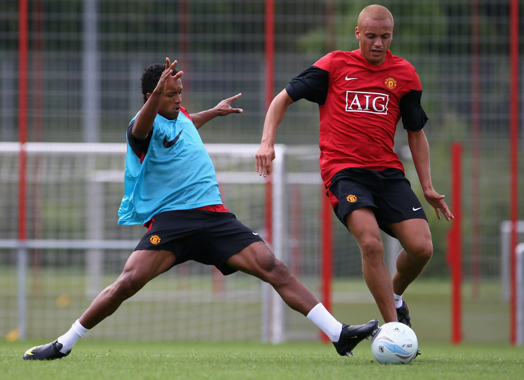 nani in audi cup 2009 manchester united training session zimbio. Black Bedroom Furniture Sets. Home Design Ideas
