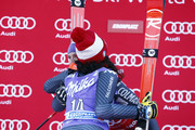 Federica Brignone of Italy takes 1st place, Tessa Worley of France takes 2nd place during the Audi FIS Alpine Ski World Cup Women's Giant Slalom on January 24, 2017 in Kronplatz, Italy