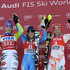 Maria Pietilae-holmner Photos - (FRANCE OUT)  (L-R) Maria Riesch of Germany, second, Maria Pietilae-Holmner, first, of Sweden and Tanja Poutiainen of Finland, third, celebrate after the Audi FIS Alpine Ski World Cup Women's Slalom on November 28, 2010 in Aspen, Colorado. - Audi FIS World Cup - Women's Slalom