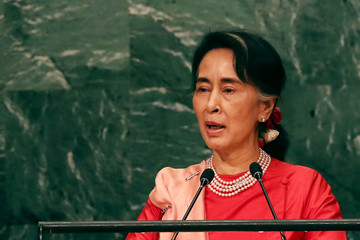 Aung San Suu Kyi World Leaders Gather in New York for the Annual United Nations General Assembly