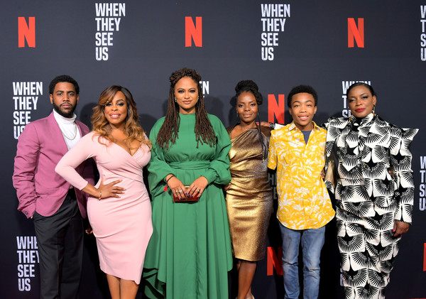 Netflix's 'When They See Us' Screening And Reception [when they see us screening reception,event,fashion,premiere,carpet,fashion design,performance,award,talent show,red carpet,jharrel jerome,asante blackk,aunjanue ellis,niecy nash,ava duvernay,marsha stephanie blake,lot,netflix,when they see us screening reception]