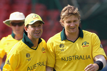 Ricky Ponting Shane Watson Australia v Canada: Group A - 2011 ICC World Cup