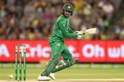 Shoaib Malik of Pakistan bats during game two of the One Day International series between Australia and Pakistan at Melbourne Cricket Ground on January 15, 2017 in Melbourne, Australia.