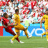 Mark Milligan Paolo Guerrero Photos - Paolo Guerrero of Peru beats Mark Milligan of Australia to the ball to score his sides second goal during the 2018 FIFA World Cup Russia group C match between Australia and Peru at Fisht Stadium on June 26, 2018 in Sochi, Russia. - Australia Vs. Peru: Group C - 2018 FIFA World Cup Russia
