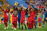 Peru players show appreciation to the fans after the 2018 FIFA World Cup Russia group C match between Australia and Peru at Fisht Stadium on June 26, 2018 in Sochi, Russia.