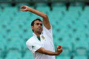 Imran Tahir of South Africa bowls during day two of the International TOur Match between Australia A and South Africa at Sydney Cricket Ground on November 3, 2012 in Sydney, Australia.