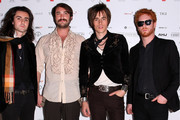 Members of US band Carney, Zane Carney, Jon Epcar, Reeve Carney and Aiden Moore arrive at the Australian Hair Fashion Awards at Sydney Town Hall on March 29, 2010 in Sydney, Australia.